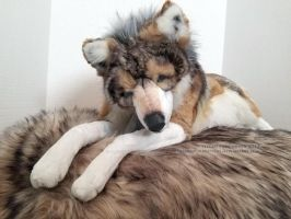 Wolf Plush (WIP) Almost Done! by TeeganPurrington