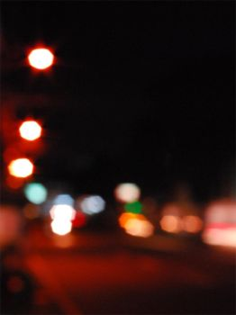 Bokeh street lights by MarikKun