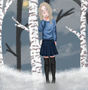 willow in the snow by fl0werbunny