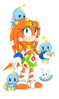 Tikal and Chao [Art Trade] by Reallyfaster