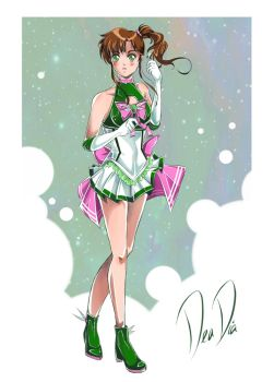 Super Sailor Jupiter - New Outfit Redesign by daadia