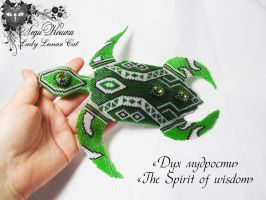 Beading sculpture The spirit of wisdom by LadyLunarCat