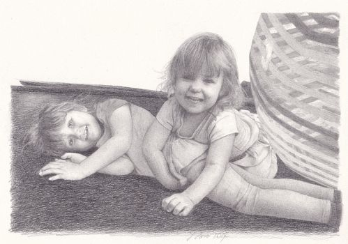 Children at Play by pixeleiderdown