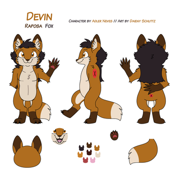 Devin Ref Sheet Commission by Daieny