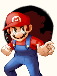 Super Mario Bros. - Mario by Aeridis