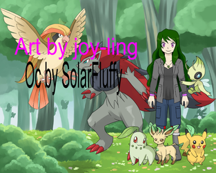 Me as a pokemon trainer. by SolarFluffy