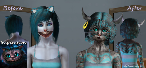 Cheshire Cat Custom Sim by Popcornstar45