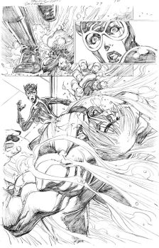 Catwoman 29 page 10 pencils by PatrickOlliffe