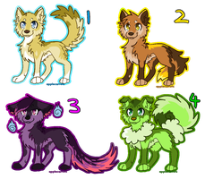 Canine Adoptables  Open 2/4 by applecarrots