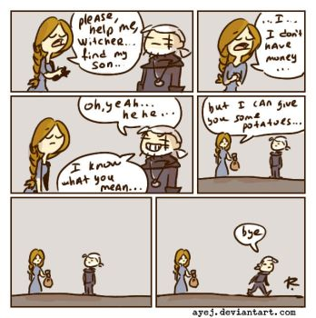 The Witcher 3, doodles 326 by Ayej