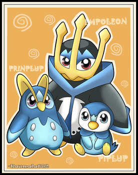 Piplup Evolutions by Km92