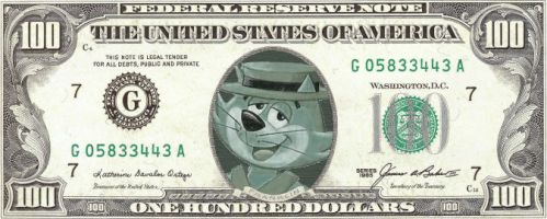 Top Cat 100 Dollar Bill by policezombie