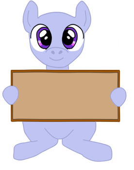 Pony with board Base MS paint friendly by Hollena