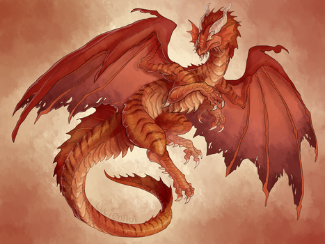 DnD - Ancient Red Dragon by Lucieniibi