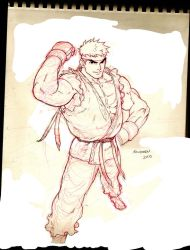 HI-RES RYU SKETCH by Kandoken