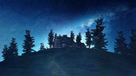 The starry hill by Ellysiumn