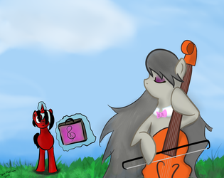 Octavia's Crimson Admirer by Spaceisthelimit
