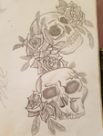 Skulls and Roses by Onokira