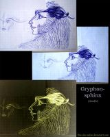 Griphon-sphynx (doodle) by Flive-aka-Nailan