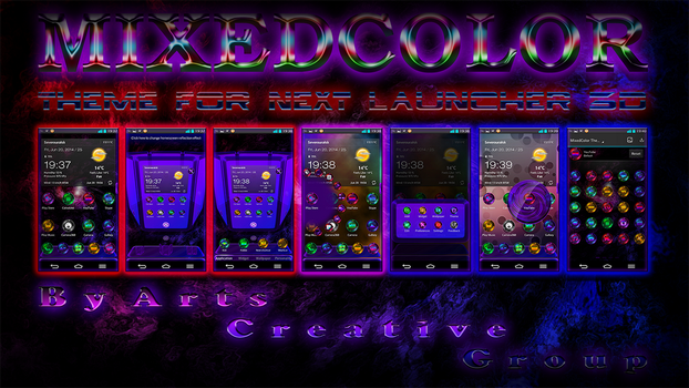 Next Launcher 3D Theme MixedColor by ArtsCreativeGroup