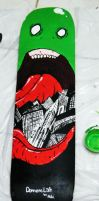 Wormzilla skateboard by DemensLab