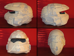 PROP MAKING - Halo 3 Rogue Helmet 04 by VR-Robotica