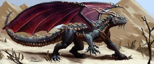 Dragon from the desert by LordHannu