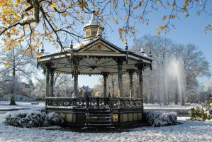 Music Kiosk in the snow 3 by steppelandstock