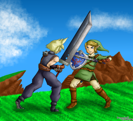 Cloud VS Link by Dragonfunk7