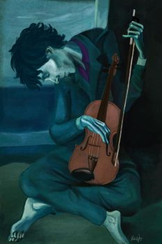 The Old Violinist by RazSketch