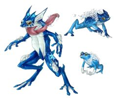 Realistic Pokemon: Froakie Evolution Line