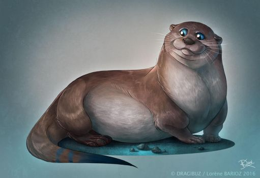 Fat Otter by Dragibuz