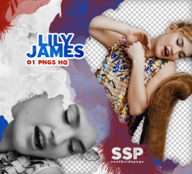Png Pack 3844 - Lily James by southsidepngs