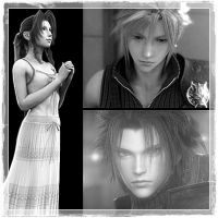 Aerith, Cloud and Zack by DarkMagicianQueen