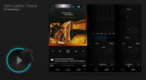 Poweramp Dark Leather Skin by ikorolkov