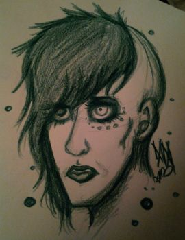 Manson Doodle by candiiapple101