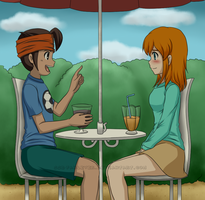 Together under the parasol by adricarra