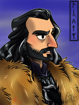 Colored Commission: Thorin Oakenshield by 0ArmoredSoul0