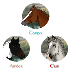 DI | Tango Herd Buttons by NorthernMyth