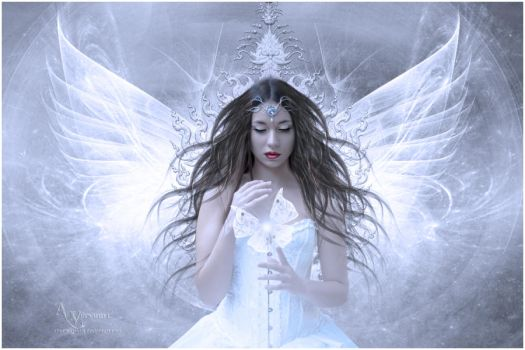 The butterfly girl fractal by annemaria48