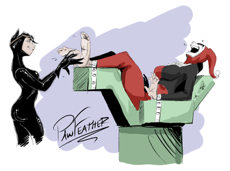 Catwoman Harley Tickle Vid by PawFeather