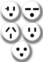Plug Outlet Emotions buttons by e-tahn