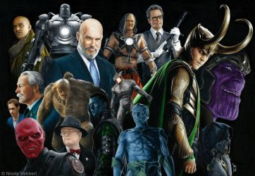 MCU Phase 1 villains (drawing) by Quelchii