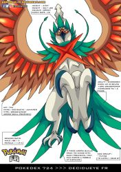 Pokedex 724 - Decidueye FR by Pokemon-FR
