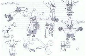 DIMENTIO DOODLES...and Bleck by JewlzTheHedgehog