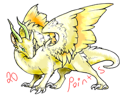 Dragon Adoptable -- OPEN (LOWER PRICE) by Ruby-Dragoness