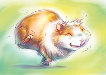 Happy Bobule the Guinea Pig by Fany001