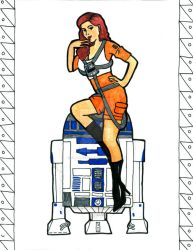 Pin Up X-Wing Pilot Illustration by ChelseaFerranti