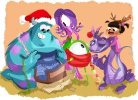 monster christmas by coffeebandit