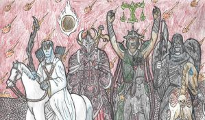 The Horsemen of the Apocalypse by DWestmoore